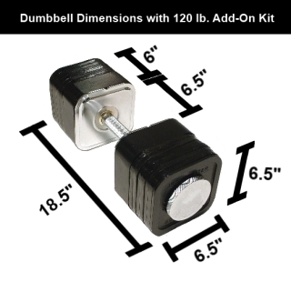 120 Pound Ironmaster Quick-Lock Dumbbell Add-On Kit