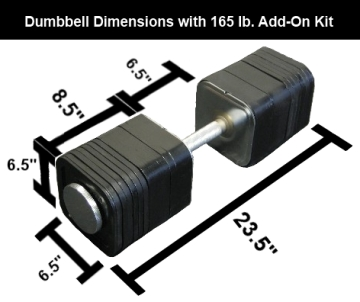 165 Pound Ironmaster Quick-Lock Dumbbell Add-On Kit