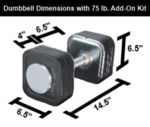 75 Pound Ironmaster Quick-Lock Dumbbell Set