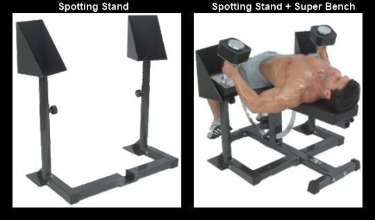 Ironmaster Quick-Lock Dumbbell Spotting Stand and Super Bench Combo