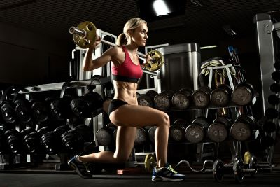 benefits of lunging woman squatting