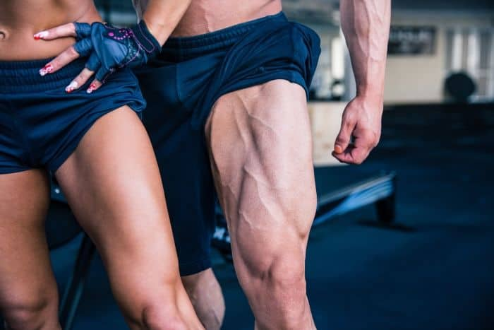 leg anatomy man and woman with big quads