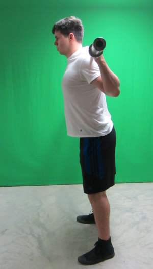 low bar squat position standing side view