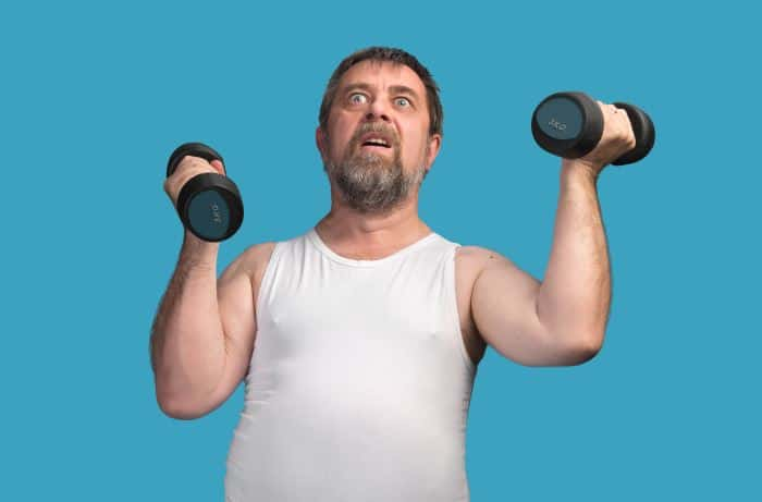 56 year old weight training to lose fat