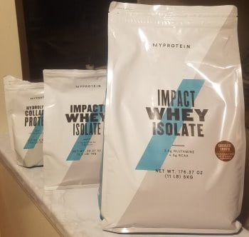 Whey Protein Container Sizes