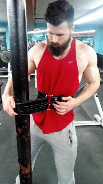 tightening weight lifting belt