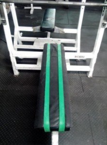 resistance bands to stop slipping on bench press