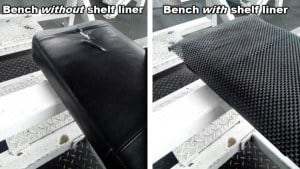 prevent slipping on bench press with a shelf liner