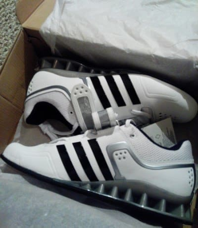 Used-Mens-Adidas-Adipower-Weightlifting-shoes-Size-9