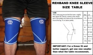 rehband knee sleeves size chart