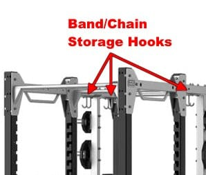 storage hooks for bands, chains, belts and other accessories