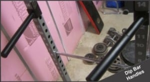 separate dip bar handles for power rack