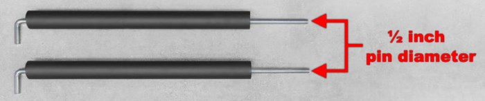 pin pipe safeties for power rack