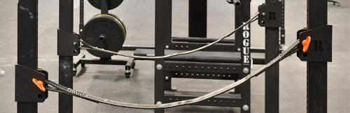 Power rack safety strap system