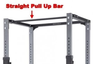 power rack with straight pull up bar