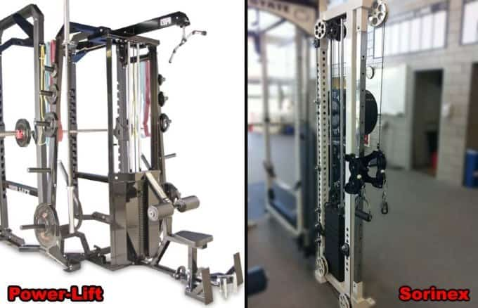 lat cable pulley attachment for Sorinex and Power-lift power racks