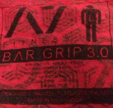 A7 Fitness Bar Grip Shirt Tag