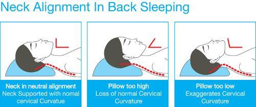 Proper neck position when sleeping on back