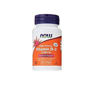 NOW Foods Vitamin D3 Softgels, 2000 IU