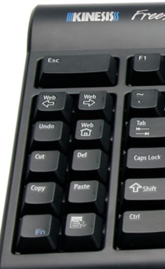 Kinesis Freestyle 2 keyboard with 10-key pad with hotkey shortcuts