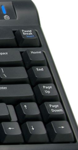 Kinesis Freestyle 2 keyboard with home end page up and page down keys