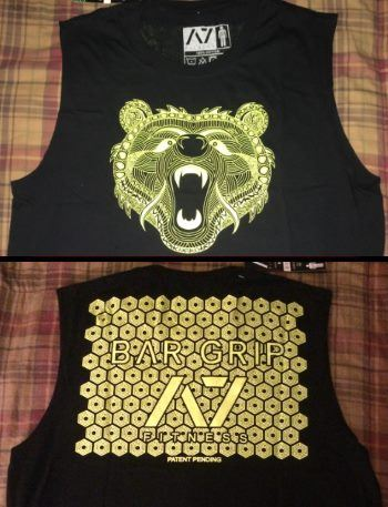 A7 Bar Grip Gnarly Bear - Front and back view