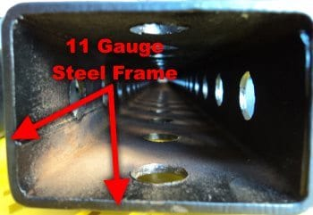 11 Gauge Steel Frame Thickness on Titan T-3 Power Rack
