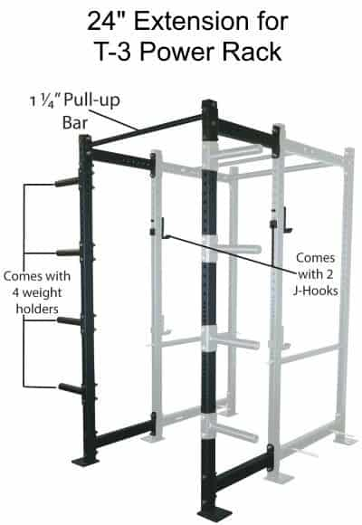 24 Inch Extension Kit For T-3 Power Rack