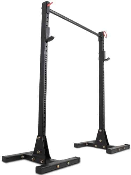 Titan T-3 Independent Upright Squat Stand Weight Rack with Pull Up Bar