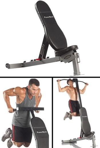 PowerBlock Sport Bench with Optional Dip and Pull Up Attachments