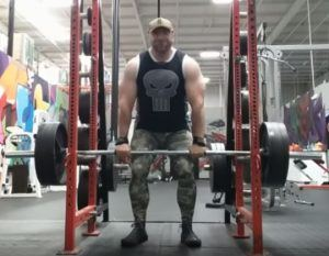 Power Shrugs Form - Setup and End of Set - Bar on Rack