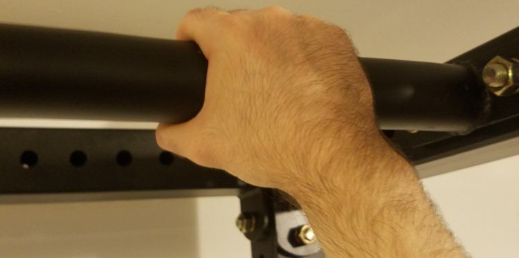 Fat Pull Up Bar with 2-Inch Diameter on X-3 Power Rack