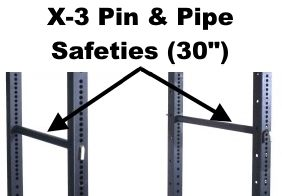 Pin & Pipe Safety Bars for X-3 Power Rack