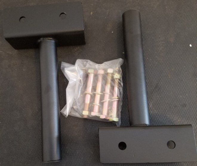Titan X-3 Bolt-On Weight Plate Holders Unboxed - All Parts Inside Box Labeled X3JWHOLD