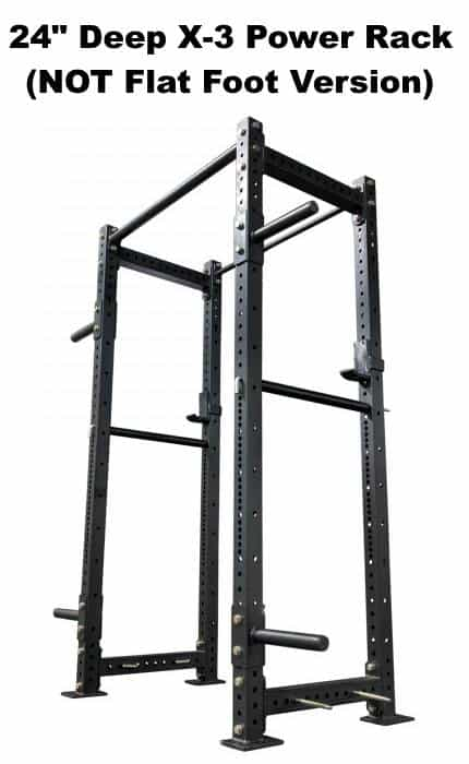 X-3 Power Rack - 24 Inch Depth - Side Angle View