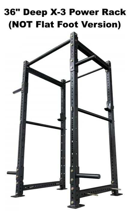 X-3 Power Rack - 36 Inch Depth - Side Angle View