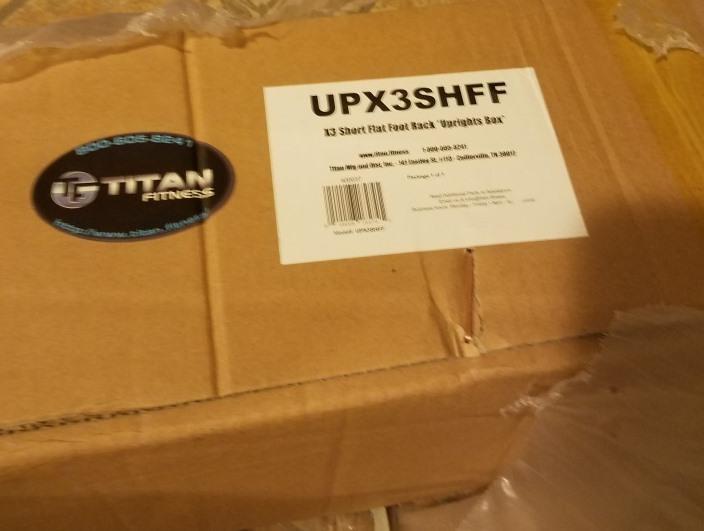 Titan X-3 Short Flat Foot Power Rack Uprights Still in Box (UPX3SHFF) - 2