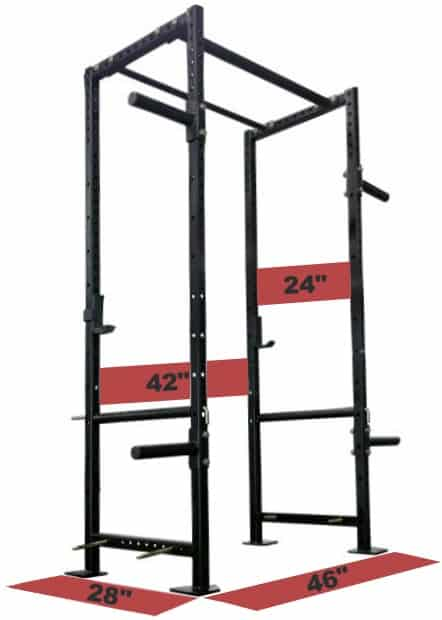 Titan X-2 Power Rack Dimensions