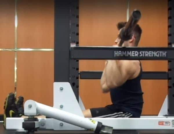 Barbell Z-Press Eccentric - Elbows In - Side View