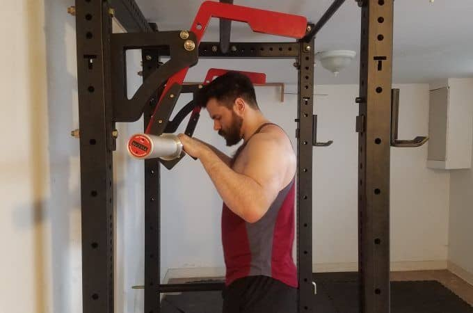 Before Squat Setup in Titan X-3 Monolift Attachment