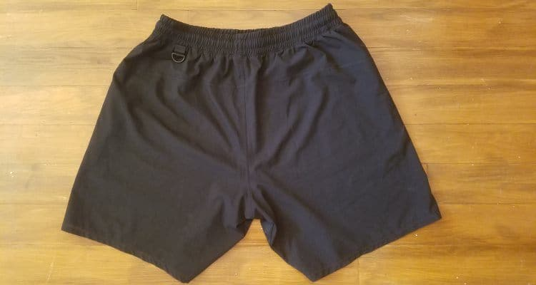 A7 Center-stretch Squat Shorts - Rear View