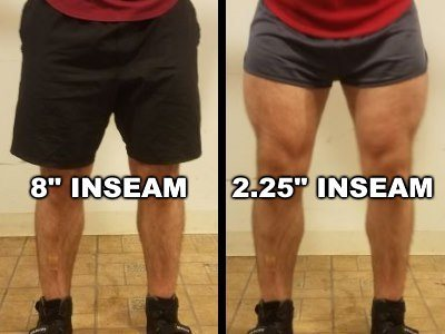 Squat Shorts Inseam Comparison