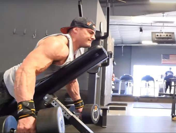 Dumbbell Rear Delt Swing - Concentric - Side