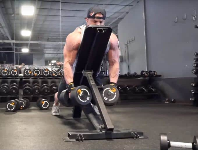 Dumbbell Rear Delt Swing - Eccentric - Front