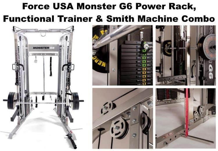 Force USA Monster G6 Power Rack Functional Trainer Smith Machine Combo