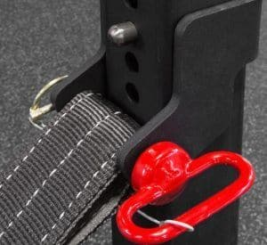 Rogue Monster Lite Strap Safety System Version 1 - Uses Lynch Pin to Secure Hitch Pin