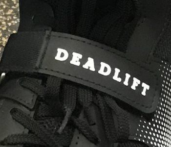 Deadlift printed on metatarsal strap