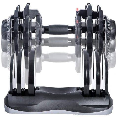 Merax Deluxe Adjustable Dumbbell in Storage Tray