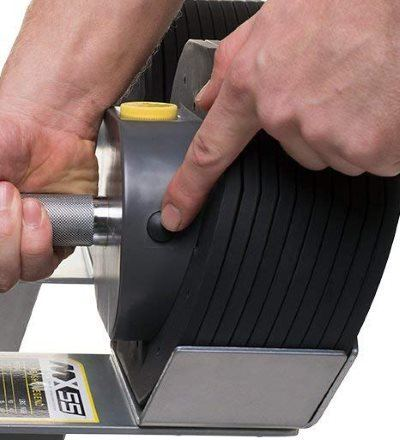 Pressing Button Before Adjusting Dials on MX Select MX55 Adjustable Dumbbells