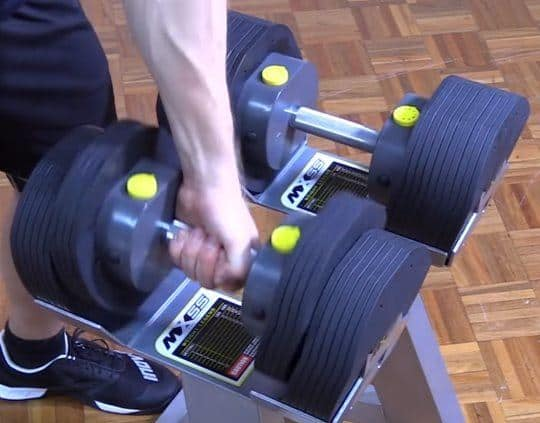 Variable Length on MX55 Adjustable Dumbbells